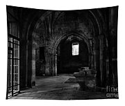 Rioseco Abandoned Abbey Naves Bw Tapestry