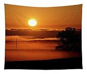 Rising Sun Lighting Ground Fog Tapestry