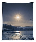Rising Sun On A Cold Winter Morning Tapestry
