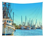 Darien Shrimp Boats Tapestry