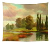 River Flowing Through The Landscape H B Tapestry