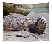 River Otters Tapestry