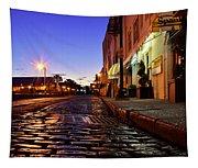 River Street At Dusk Tapestry