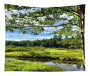 River Under The Maple Tree Tapestry