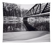 River View B And W Tapestry