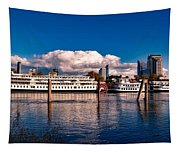 Riverboats Of Sacramento Tapestry