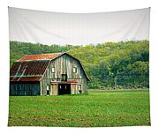 Riverbottom Barn In Spring Tapestry