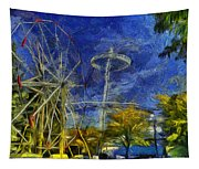 Riverfront Park - Pavilion And Ferris Wheel Tapestry