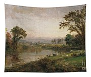 Riverscape In Early Autumn Tapestry
