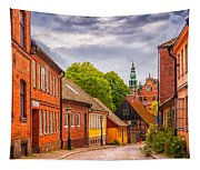 Roads Of Lund Digital Painting Tapestry