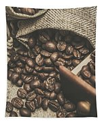 Roasted Coffee Beans In Close-up  Tapestry
