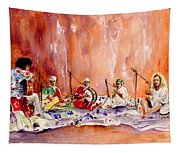 Robert Plant And Jimmy Page In Morocco Tapestry