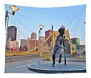 Roberto Clemente Statue 2017 Tapestry