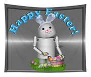 Robo-x9 The Easter Bunny Tapestry