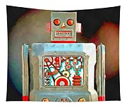 Robot Pop Art R-1 Tapestry
