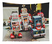 Robots Of Retro Cool Tapestry