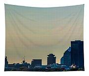 Rochester Ny Panorama At Dusk Tapestry