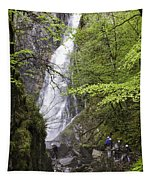 Rock Climbers At Graymare's Tail Falls Tapestry