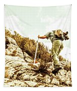 Rock Climbing Mountaineer Tapestry