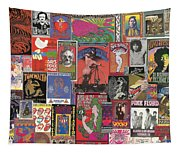Rock Concert Posters Collage 1 Tapestry