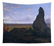 Rock In Montserrat Tapestry