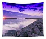 Rock Jetty Sunrise Tapestry