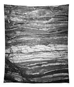 Rock Lines B W Tapestry