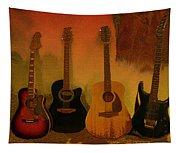 Rock N Roll Guitars Tapestry
