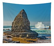 Rock Stack On The Costa Viicentina, Portugal Tapestry