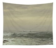 Rocks And Breaking Waves Tapestry