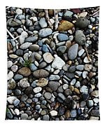 Rocks And Sticks On The Beach Tapestry