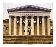 Rocky Balboa On The Art Museum Steps Tapestry