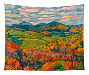 Rocky Knob In Fall Tapestry