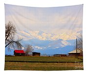Rocky Mountain Boulder County View Tapestry