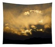 Rocky Mountain Continental Divide Sunset Tapestry