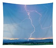 Rocky Mountain Front Range Foothills Lightning Strikes 1 Tapestry