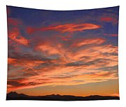 Rocky Mountain Front Range Sunset Tapestry