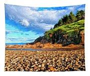 Rocky Oregon Beach Tapestry