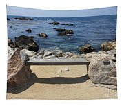Rocky Seaside Bench Tapestry