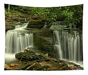 Rocky Twin Falls Tapestry