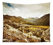 Rocky Valley Mountains Tapestry