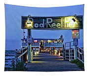 Rod And Reel Pier Tapestry