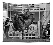 Rodeo Bull Riding 1 Tapestry