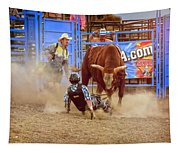 Rodeo Rider Down Tapestry