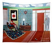 Roger Sterling And Joan Sitting In An Eames Tapestry
