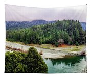 Rogue River Bend Pano Tapestry