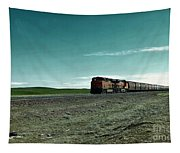 Rolling Freight Train Tapestry
