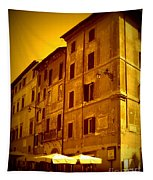 Roman Cafe With Golden Sepia 2 Tapestry
