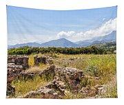 Roman Villa Ruins At Makry Gialos Tapestry