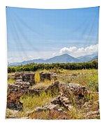 Roman Villa Ruins On Crete Tapestry